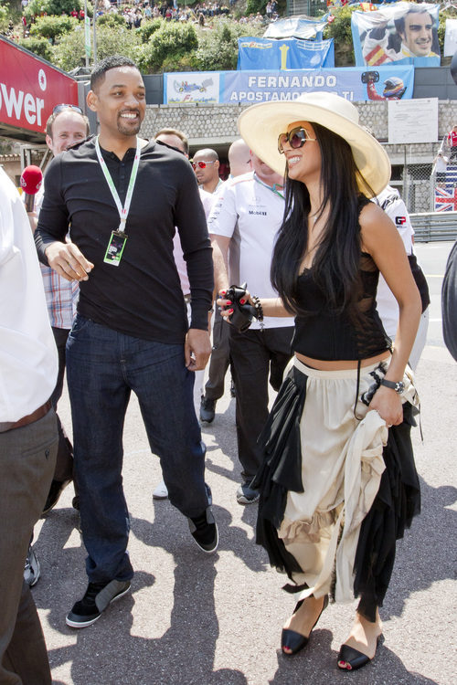 Will Smith y Nicole Scherzinger en el GP de Mónaco 2012