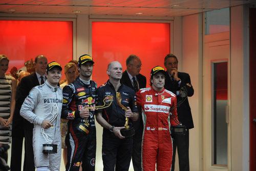 Fernando Alonso termina tercero en Mónaco