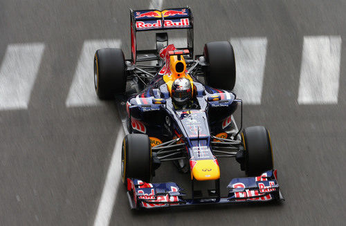 Sebastian Vettel durante el Gran Premio de Mónaco 2012