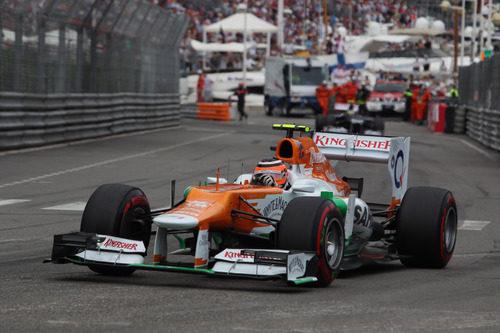 Nico Hülkenberg progresa con su VJM05 en Mónaco