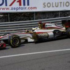 Pedro de la Rosa trata de progresar en la clasificación del GP de Mónaco