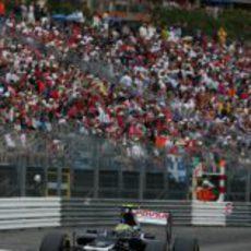 Bruno Senna durante la clasificación del GP de Mónaco