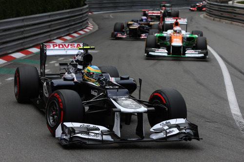 Bruno Senna rueda durante la Q2 del sábado