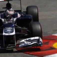Pastor Maldonado exprime el potencial del FW34 en Montecarlo