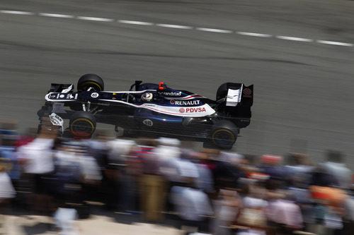 Pastor Maldonado rueda en los Libres 3 del GP de Mónaco
