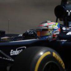 Plano de Pastor Maldonado en la clasificación del GP de Mónaco
