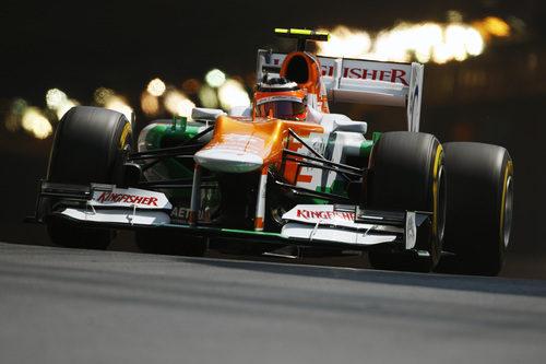 Nico Hülkenberg sale del túnel en Mónaco