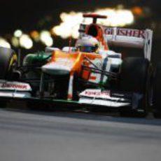 Paul di Resta rueda por las calles del Principado de Mónaco