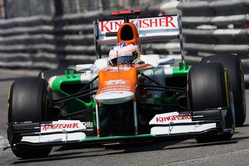Paul di Resta durante la clasificación del GP de Mónaco