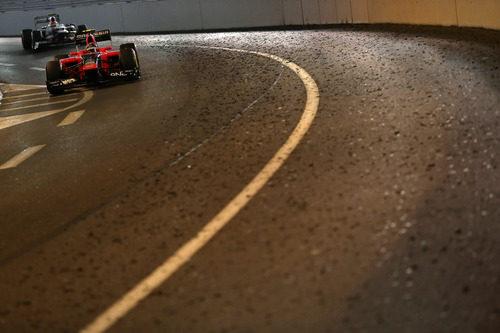 Charles Pic atraviesa el túnel de Mónaco
