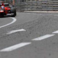 Timo Glock durante el Gran Premio de Mónaco