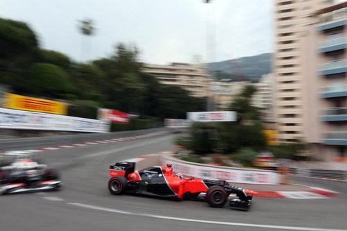 Timo Glock llega a la Rascasse en Mónaco