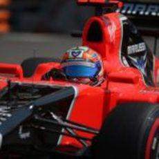 Plano de Timo Glock en la jornada del sábado en Mónaco