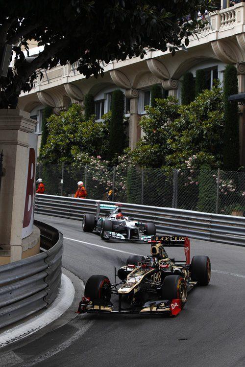 Kimi Räikkönen rueda en Mónaco