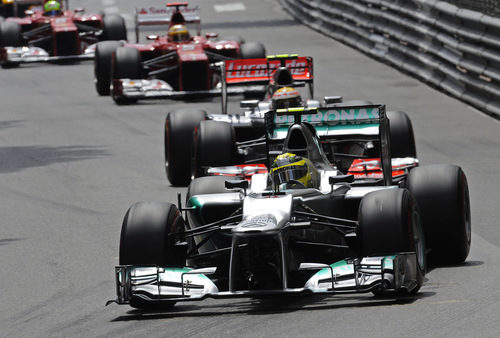 Nico Rosberg lidera el grupo en Mónaco