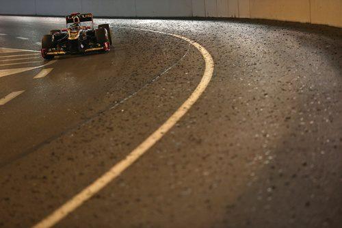 Kimi Räikkönen en el túnel de Mónaco
