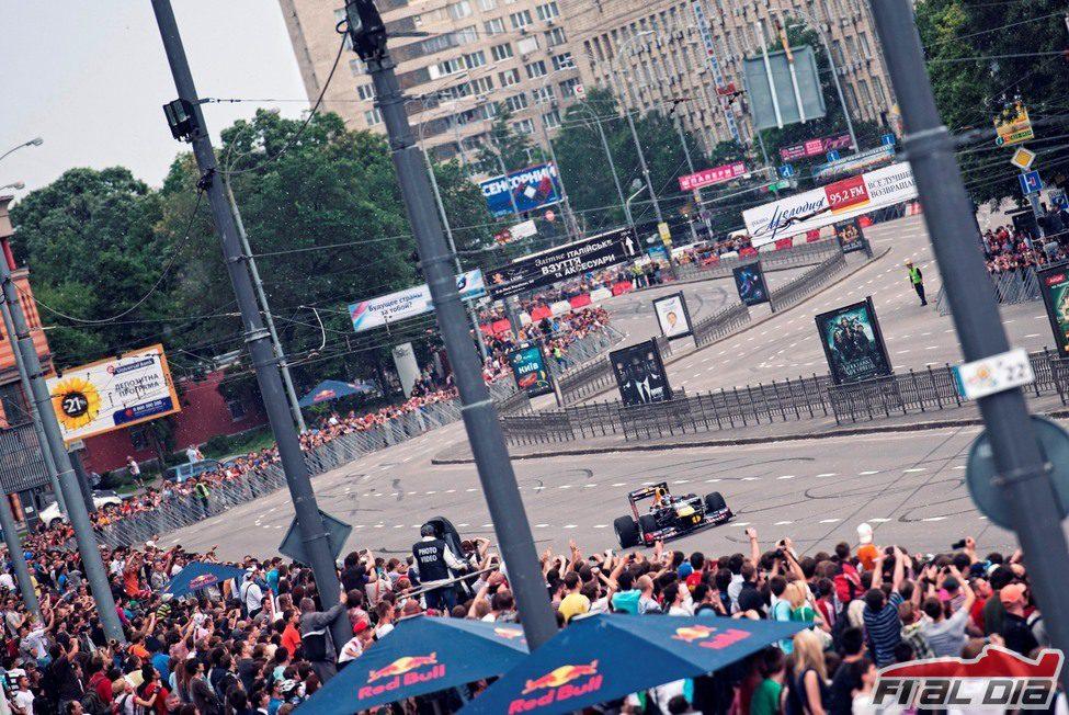 Mucho público en Kiev para ver a Daniel Ricciardo