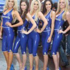 Cinco impresionantes azafatas del 'Bavaria City Racing'