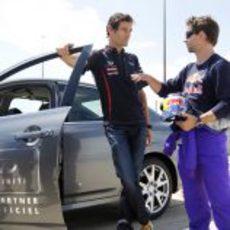 Mark Webber y Jon DeVore juntos en Canadá