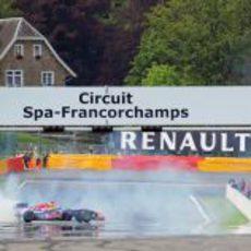 Exhibición de Daniel Ricciardo en Spa con Red Bull