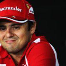 Felipe Massa en la rueda de prensa de la FIA del jueves en Canadá