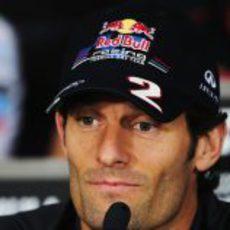 Mark Webber en la rueda de prensa de la FIA del viernes en Canadá