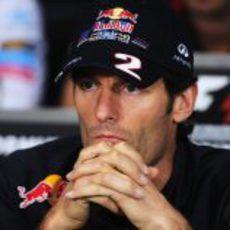 Webber responde a las preguntas de la prensa en Canadá