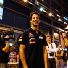 Daniel Ricciardo en un evento de Toro Rosso en Canadá