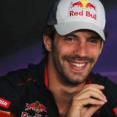 Jean-Eric Vergne en la rueda de prensa de la FIA del jueves en Canadá