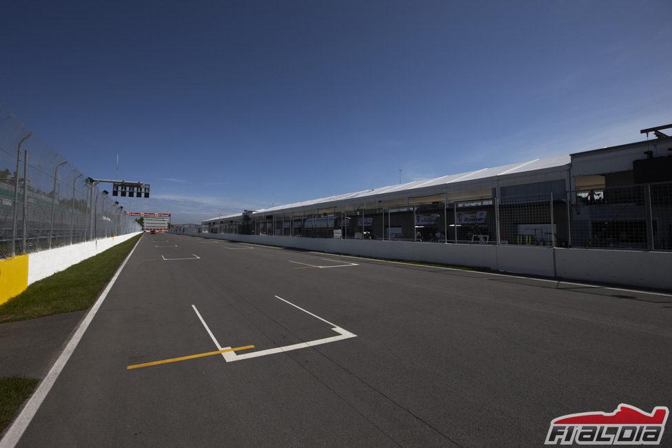 Circuito Gilles Villeneuve : Recta principal del circuito gilles villeneuve f al día
