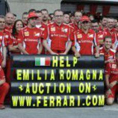 Alonso, Domenicali, Massa y los miembros de Ferrari apoyan a las víctimas de los terremotos
