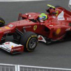 Felipe Massa durante los entrenamientos en Canadá