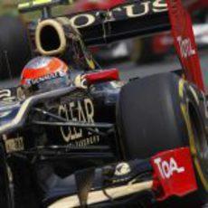 Plano cercano de Romain Grosjean en Montreal