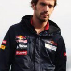 Jean Eric-Vergne momentos antes de disputarse los primeros libres del GP de Canadá 2012