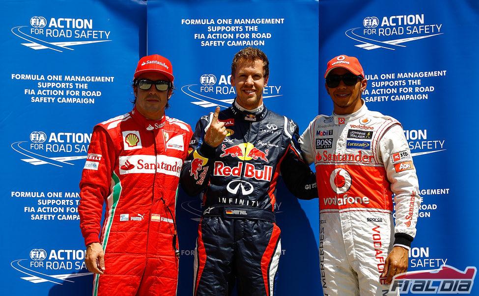 Los tres mejores de la clasificación del GP de Canadá 2012