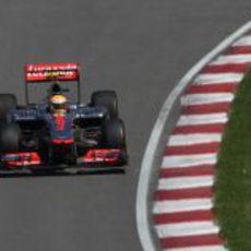 Lewis Hamilton en la clasificación del GP de Canadá 2012