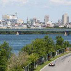 La ciudad de Montreal durante la clasificación del GP de Canadá