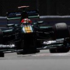 Heikki Kovalainen en la clasificación del GP de Canadá 2012