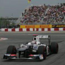 Kamui Kobayashi en la clasificación de Montreal