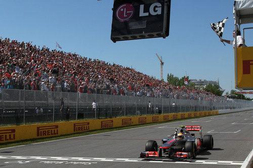 Lewis Hamilton gana la carrera de Montreal