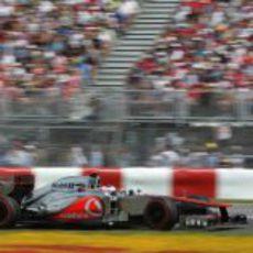 Jenson Button en la carrera de Canadá 2012