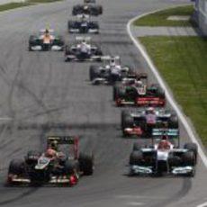 Romain Grosjean supera a Michael Schumacher en Canadá