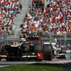 Kimi Räikkönen pilota en el semiurbano del Gilles Villeneuve