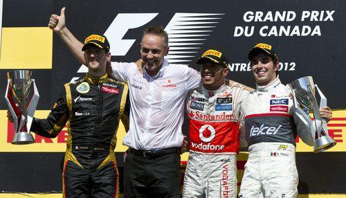 Podio del GP de Canadá 2012