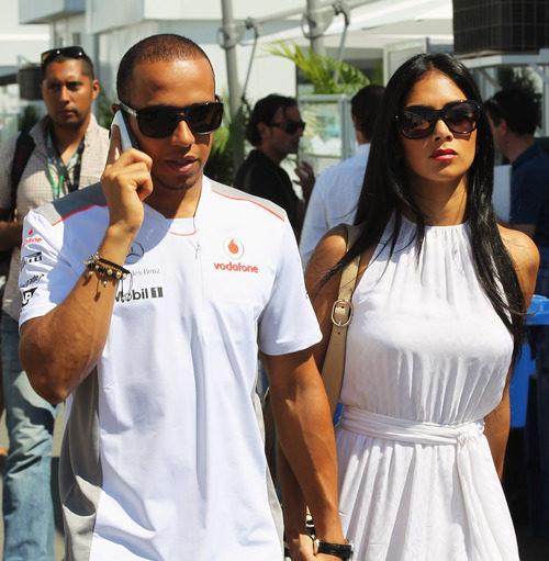 Lewis Hamilton y Nicole Scherzinger en el GP de Canadá 2012