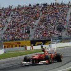 Felipe Massa durante el Gran Premio de Canadá 2012