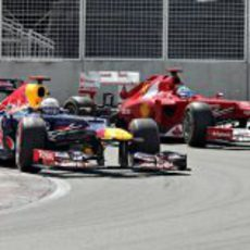 Sebastian Vettel adelanta a Fernando Alonso en Canadá 2012
