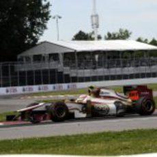 Narain Karthikeyan con su F112 durante el GP de Canadá 2012
