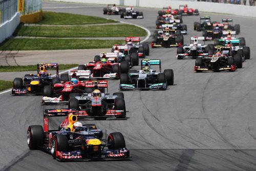 Sebastian Vettel lidera el grupo en Canada