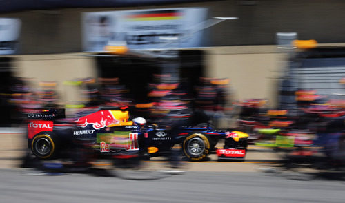 Pit stop para Sebastian Vettel